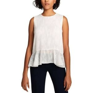 Tommy Hilfiger Top Blouse Sheer White Sz M